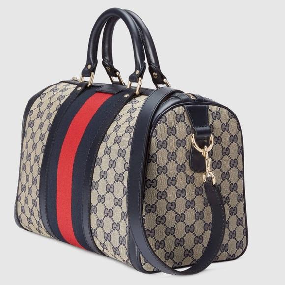 7d723d273725 Gucci Handbags - Vintage Web Original GG canvas Boston bag